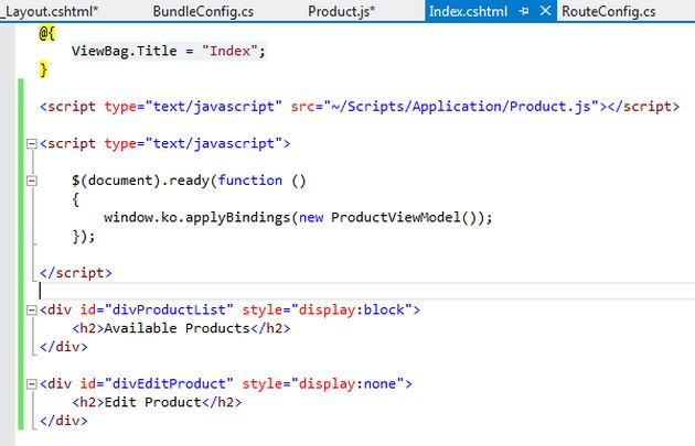 single page application mvc 5 example