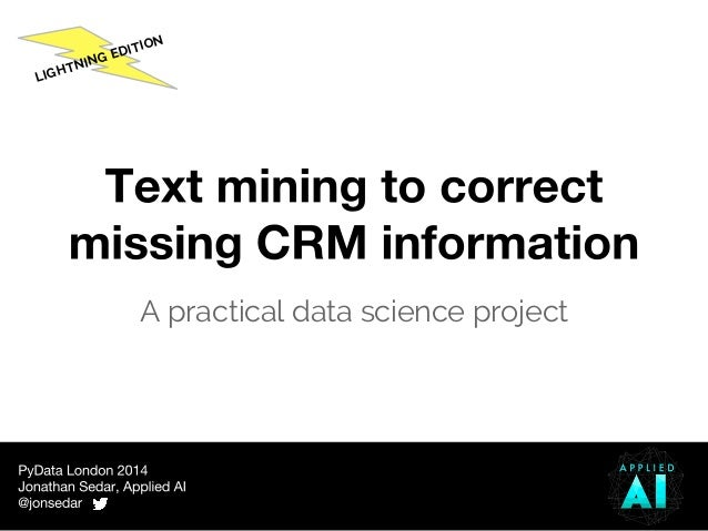 what is the practical application of text mining