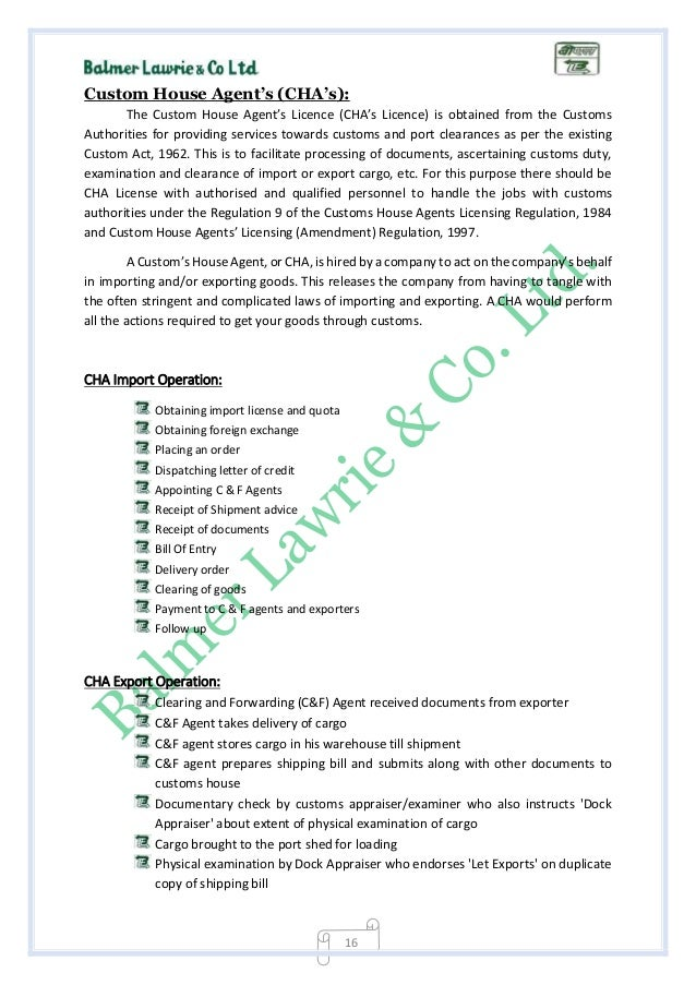 import and export licence application