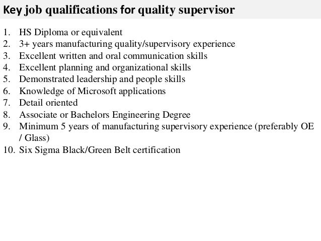 skills and qualifications for application