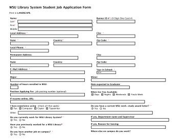 mock job application forms for students