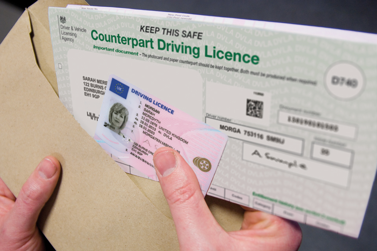 application for lost driving licence