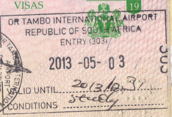 south african embassy visa application form