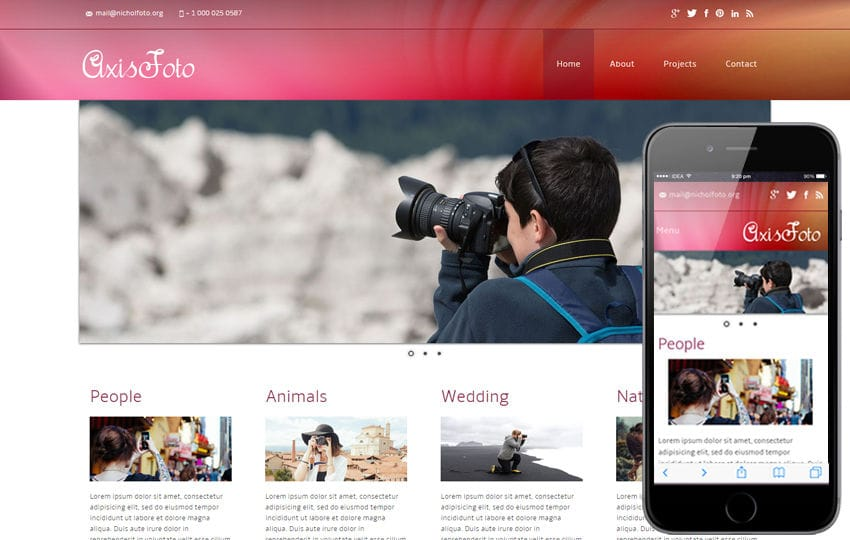 photo gallery application for website