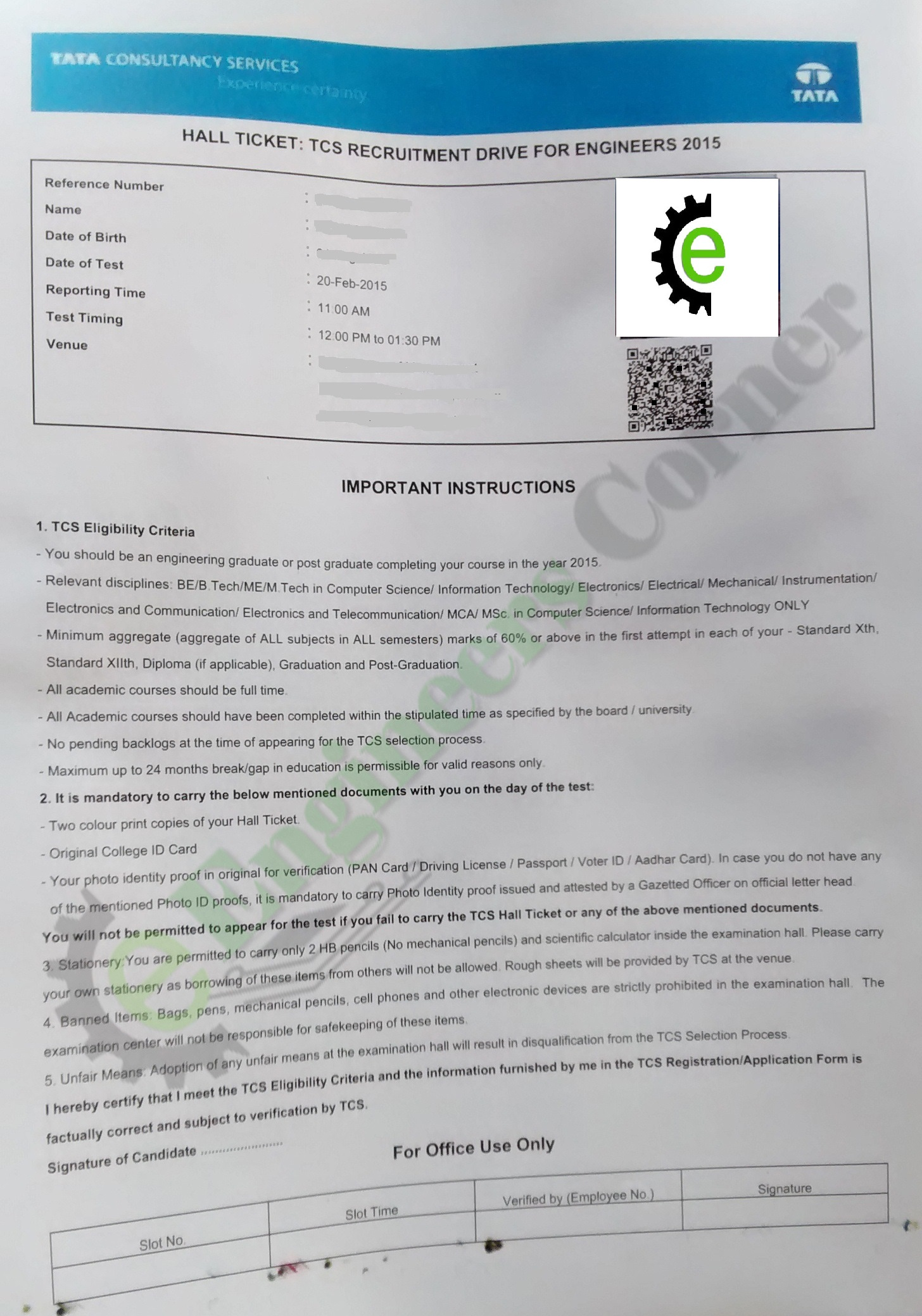 documents required for pr application