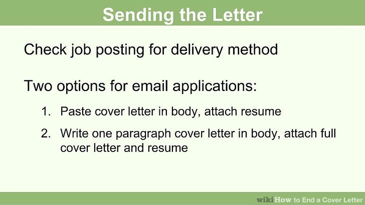how to end a job application email