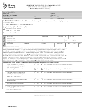 how to fill out disability application