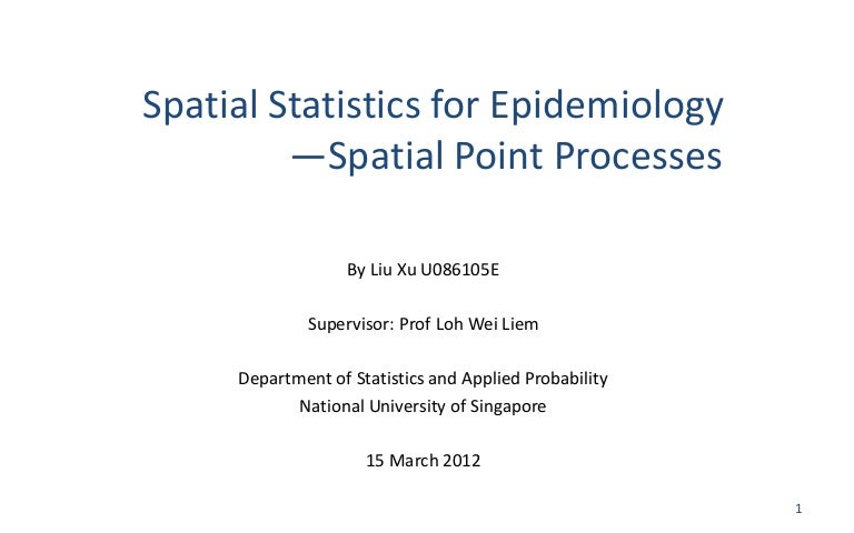 spatial epidemiology methods and applications