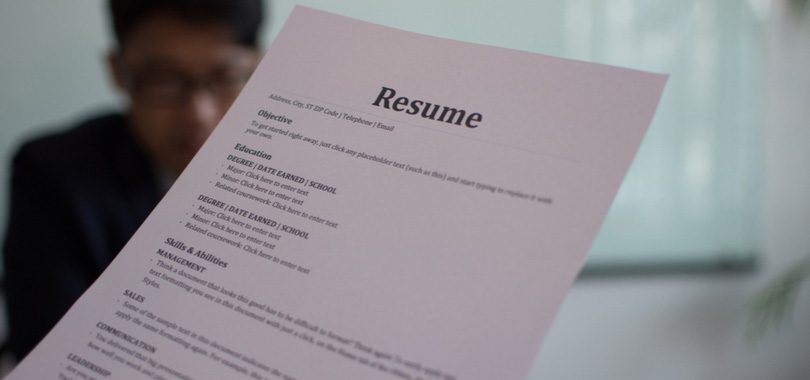 what is resume in job application